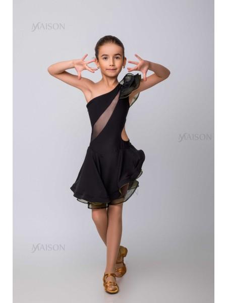 Платье Латина с вставками из сетки