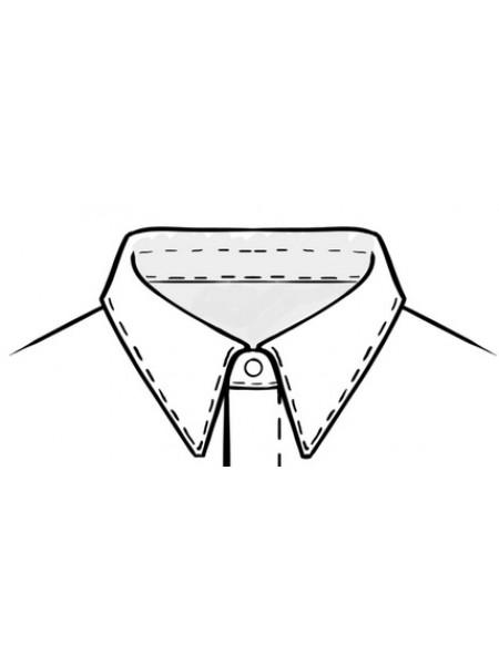 """Рубашка-боди для Стандарта с супатной застежкой, воротник  -  """"с отрезной стойкой"""""""