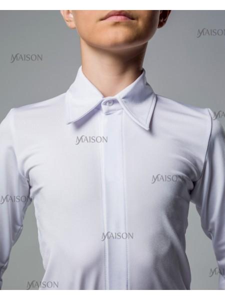 """Рубашка-боди для Латины с закрытой молнией, воротник - """"классика"""""""