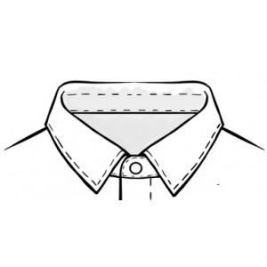 """Рубашка-боди для Латины, с открытой молнией. воротник - """"кент"""""""