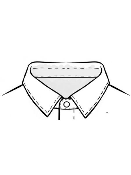"""Рубашка-боди для Латины с закрытой молнией, воротник -  """"кент"""""""