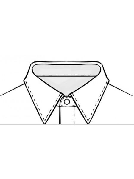 """Рубашка-боди для Латины, с открытой молнией. воротник - """"классика"""""""